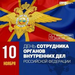 Ежегодно 10 ноября в России отмечается профессиональный праздник сотрудников органов внутренних дел Российской Федерации.